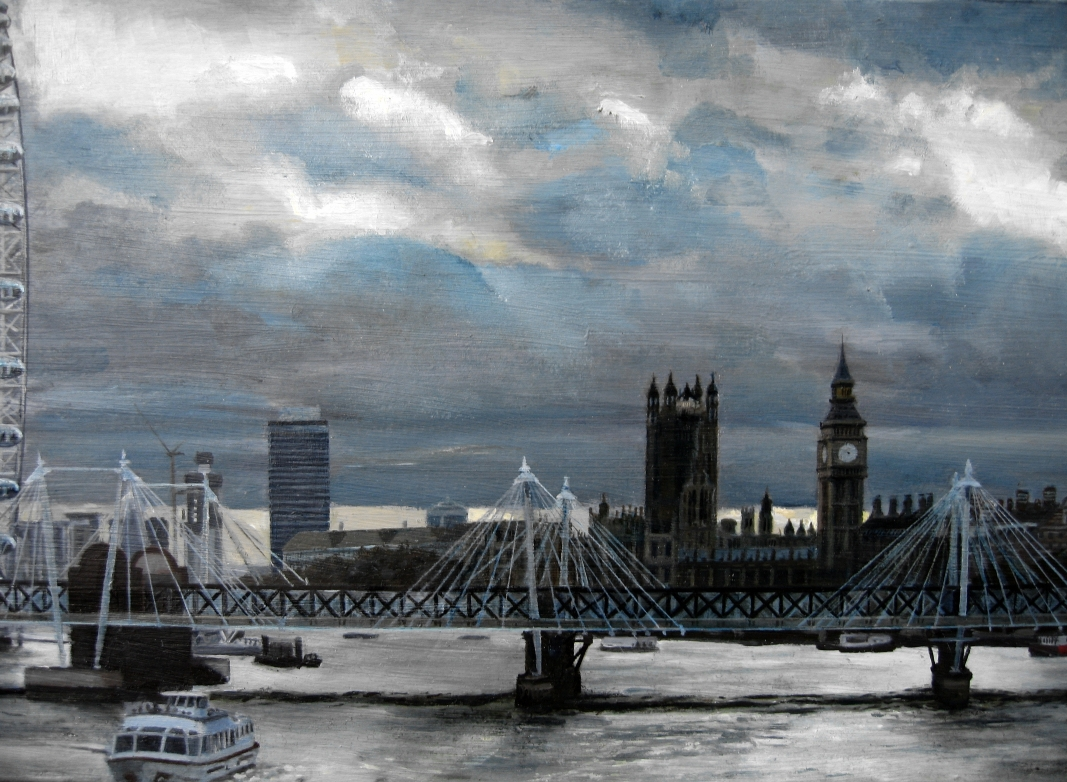 London and the Thames II (detail)