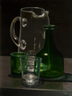 Carafe, pitcher and glasses